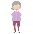 Old lady character vector image