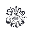 shine like the star vector image