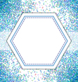 Blue spot pattern background vector image