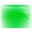 green background with stars vector image vector image