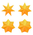 set of four golden seven point stars vector image