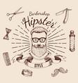 barbershop hipster style design vector image