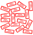 Restaurant menu rubber stamps with pizza types vector image