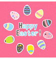 Eastern colorful pink greeting card vector image