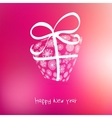 Christmas gift box from snowflakes on pink  EPS8 vector image