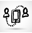 Communication between people grunge icon vector image