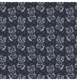 Seamless pattern of cute cat characters Fishbone vector image