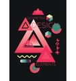 Chaotic Geometric Abstract vector image