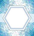 Blue spot pattern background vector image