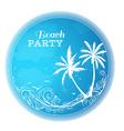 Circle beach party design vector image