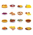 Flat design icons food vector image