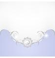 Jewelry border vector image