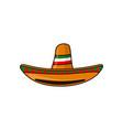 mexican sambrero feast for cinco de mayo hand vector image