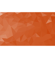 Orange polygon background vector image