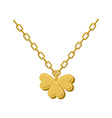 Pendant of Golden clover Gold chain and pendant vector image