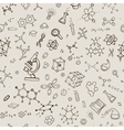 Seamless chemistry background vector image