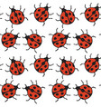 seamless pattern with red ladybugs vector image