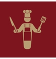 The cook icon Chef and barbecue restaurant vector image