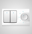 white switch with dimmer vector image