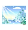 Winter Snow Landscape vector image
