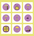 collection of icons in flat style weather and vector image
