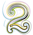 Organic Font number 2 vector image vector image