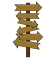 Multiple signs vector image