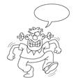 Cartoon Angry Man vector image