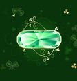 emerald banner vector image vector image