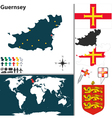 Guernsey map vector image