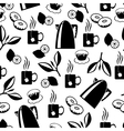 tea breack pattern vector image vector image