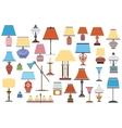 retro antique lamps vector image