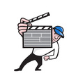 Director With Movie Clapboard Cartoon vector image
