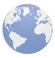 blue globe with continents eps 10 vector image