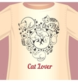 Cat lover T-shirt vector image