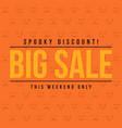 halloween sale on orange background vector image