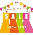 special offer sale cubes color garlands star vector image