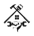 symbol home repairs with a tool vector image