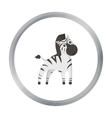 Zebra cartoon icon for web and vector image