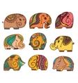 indian elephants set vector image