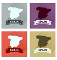 Concept flat icons with long shadow Spain map vector image