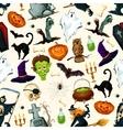 Halloween holiday cartoon horror seamless pattern vector image vector image