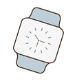 cartoon classic analog watch wearable technology vector image