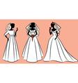 Wedding dress woman vector image vector image