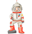 astronaut in spacesuit on white background vector image