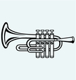 Trumpet musical instrument vector image vector image