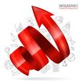 Spiral Arrow vector image vector image