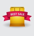 ad layout for sale with pink ribbon vector image