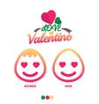 Love valentine icon women and man vector image