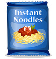 Instant Noodles vector image vector image